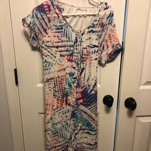 Bright and colorful summer tie dress